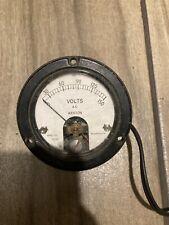 Vintage Weston Ac Panel Meter 0 10 Ac Volts Model 1524