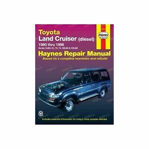 HAYNES REPAIR MANUAL- TOYOTA LAND CRUISER 1980-1998 (92751) DIESEL