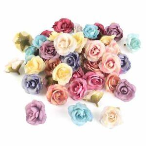 10pcs Artificial Flower 4cm Silk Rose Flower Head Wedding Home Decoration Access