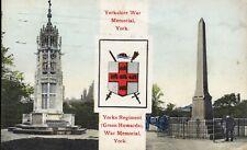 Postcard 'Yorkshire War Memorial, York'