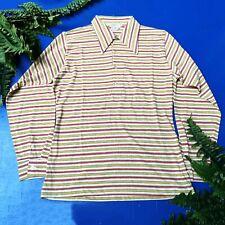 Vintage Men's Munsingwear Original Red & Yellow Striped Shirt Size (M) (Great)