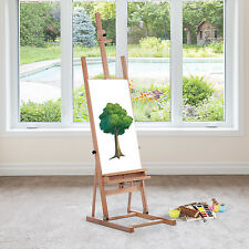 HOMCOM Beech Wooden Easel Painting Drawing Art Display Sketch Stand Adjustable