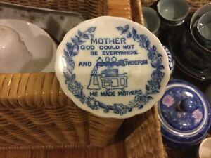8cm diameter JAPANESE porcelain Mother trnket dish VGUCUndamaged Surplus to need