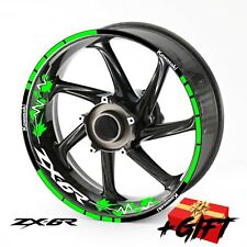 Kawasaki zx6r ninja zx 6 r inner rim stripe wheel stickers tape kit Decals