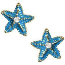 Nwt Betsey Johnson Blue Starfish Stud Earrings