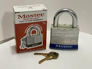 """Master Super Security #19 Padlock 3"""" Wide 6 Tumbler *NIB*"""