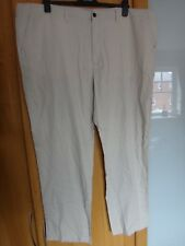 "M & S Regular Fit Linen Blend Trousers Size 48 35"" BNWT"