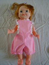 Vintage Plastic Baby Doll 14 inches Tall,  Painted Face  261720