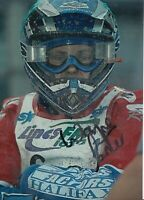 WAYNE CARTER HAND SIGNED 7X5 PHOTO - SCUNTHORPE SPEEDWAY AUTOGRAPH.