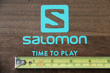 SALOMON Skis Snowboard STICKER Decal DIE CUT Mint NEW Time To Play