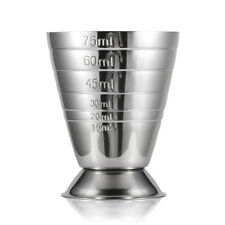 Stainless Steel Measuring Cup Shot  Jigger Bar Mixed Glasses Cocktail Silver