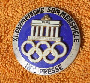Summer XI Olympische Berlin 1936 International Press Pin