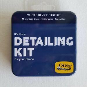 OtterBox Cell Phone Mobile Device Care Tin DETAILING KIT Cloth Brush Towelettes