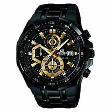 Casio EFR539BK-1A Edifice 54MM Men's Chronograph Black Stainless Steel Watch