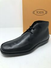 $595 New Tods Mens Black Boots Shoes Size 9.5 US 8.5 UK 42.5 EU