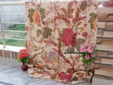 Indian Handmade Kantha Quilt Throw Reversible Bedspread Vintage Cotton Kantha