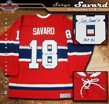 SERGE SAVARD Signed & Inscribed Montreal Canadiens Red Vintage CCM Jersey