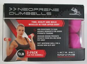 New 2 pack 1lb Hexagon Soft Neoprene Dumbbells Yoga Gym Workout Tone Body Sculpt