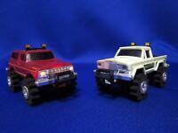 Vntg Schaper Stomper 4x4 Maroon Ford Bronco & White Jeep Honcho Parts Or Repair