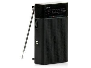 QFX R-35 AM/FM/SW 3-Band Portable Radio +Built-In Speaker +Telescopic Antenna