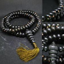 Real 108 Leklai Necklace Black Wood LP Somphon (LP YAI) Thai Amulet Strong Power