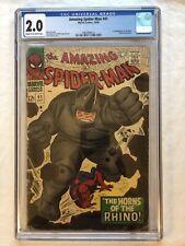Amazing Spider-Man 41 CGC 2.0 First Appearance Rhino Marvel Spiderman 1966 NICE