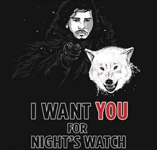 Game of Thrones Jon as Army Uncle Sam Satire Mashup RIPT Mens Shirt BRAND NEW