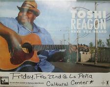 TOSHI REAGON Have You Heard, orig promo poster, 2005, 13x17, VG+, folk blues