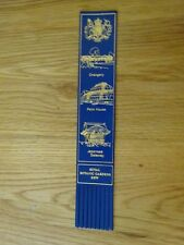 The Royal Botanic gardens Kew Blue Leather Fringed Bookmark