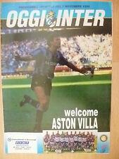 Programma UFFICIALE 1990-OGGI INTER V Aston Villa