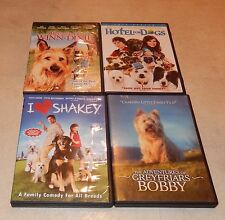 Lot of 4 Dog Movies (DVD,4-Discs) WS/FS Winn-Dixie Shakey Hotel Dogs GreyFriars