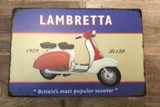 Lambretta 150  Scooter 150 Vintage Retro Style Tin Sign 30x20cm Metal