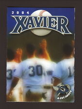 Xavier Musketeers--2004 Baseball Pocket Schedule--Mike Castrucci Automotive