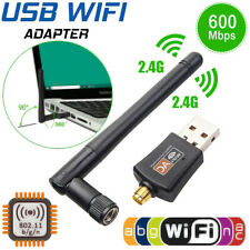 600Mbps Wifi Router USB Wireless Adapter PC Network LAN Card Dongle & 5 Antennas