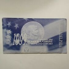 1999 US Mint Susan B Anthony Uncirculated Coin Set