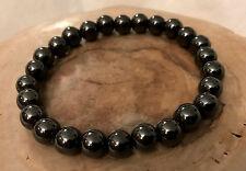 UK Ladies Magnetic Hematite Bead Healing Therapy Crystal Bracelet Bangle for Men