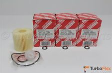Toyota Genuine OEM Oil Filter 04152-YZZA1 Set of Three + Gaskets