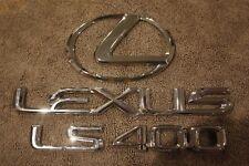1995 1996 1997 1998 1999 2000 Lexus LS400 Rear Trunk Deck Lid Emblem Set Chrome
