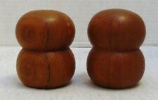 Wooden Round Salt and Pepper Shakers Fancy Kitchen Decor