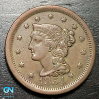 1854 Braided Hair Large Cent --  MAKE US AN OFFER!  #B6264