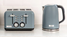 Haden Perth Slate Grey Kettle and 4 Slice Toaster Set