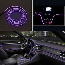 2M 12V EL Wire Purple Cold light Strip Atmosphere Lights Unique Decor Neon Lamp