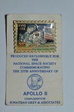 APOLLO II 25th Anniversary First Moon Landing National Space Society Stamp Pin