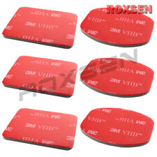 6 pcs 3M VHB Adhesive Sticker Set for GoPro Helmet Mount Camera Hero HD 2 3 Red
