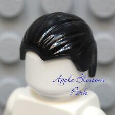 NEW Lego Minifig BLACK HAIR - Slicked Back w/Widows Peak Boy Head Gear - Batman
