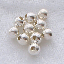 Pack of 10 ~ 6mm Sterling Silver Round Seamless Spacer Beads