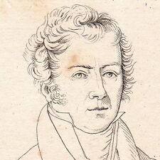 Portrait XIXe Jacques-Antoine Manuel Barcelonnette Alpes de Haute Provence