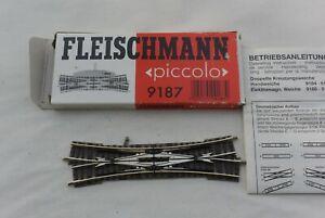 Fleischmann 9187 Kreuzung ohne Antrieb, Spur N, mit Anleitung
