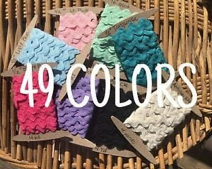 """Ric Rac 1/2"""" - 49 Colors 4 Yard Cards - FLAT RATE SHIPPING - .5 inch, half inch"""