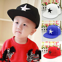 Unisex Kids Star Baseball Cap Adjustable Sports Hip hop Snapback Outdoor Hats